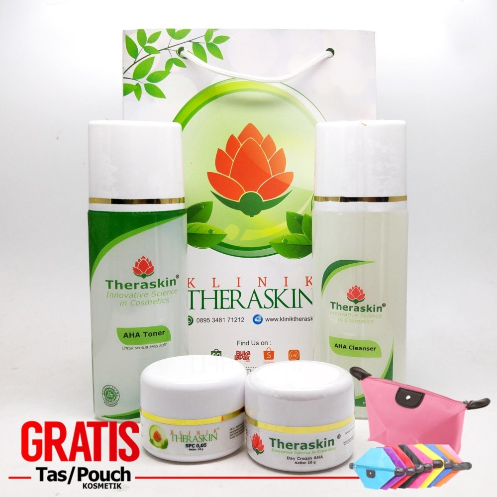 Review Promo Theraskin Flek Theraskin Aha Paket Theraskin Flek Lanjutan Tahap 6 Step 6 With Renewal Cream Gratis Pouch Terbaru